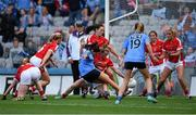 27 September 2015; Sinéad Goldrick, Dublin, attempts a shot on goal in the last seconds of the game. TG4 Ladies Football All-Ireland Senior Championship Final, Croke Park, Dublin. Picture credit: Paul Mohan / SPORTSFILE
