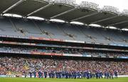 26 April 2009; The teams parade behind the Artane Band and in front of the Cusack Stand before the game. Allianz GAA National Football League, Division 1 Final, Kerry v Derry, Croke Park, Dublin. Picture credit: Brendan Moran / SPORTSFILE