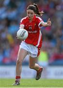 27 September 2015; Eimear Scally, Cork. TG4 Ladies Football All-Ireland Senior Championship Final, Croke Park, Dublin. Picture credit: Ramsey Cardy / SPORTSFILE