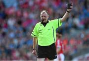 27 September 2015; Referee John Niland. TG4 Ladies Football All-Ireland Senior Championship Final, Croke Park, Dublin. Picture credit: Ramsey Cardy / SPORTSFILE