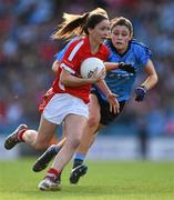 27 September 2015; Eimear Scally, Cork, in action against Olwen Carey, Dublin. TG4 Ladies Football All-Ireland Senior Championship Final, Croke Park, Dublin. Picture credit: Ramsey Cardy / SPORTSFILE