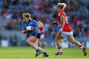 27 September 2015; Sinéad Finnegan, Dublin, in action against Valerie Mulcahy, Cork. TG4 Ladies Football All-Ireland Senior Championship Final, Croke Park, Dublin. Picture credit: Ramsey Cardy / SPORTSFILE