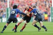 2 May 2009; Paul O'Connell, Munster, in action against Isa Nacewa, left, and Gordon D'Arcy, Leinster. Heineken Cup Semi-Final, Munster v Leinster, Croke Park, Dublin. Picture credit: Pat Murphy / SPORTSFILE