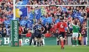 2 May 2009; Leinster's Brian O'Driscoll is congratulated by team-mate Girvan Dempsey after scoring his side's third try. Heineken Cup Semi-Final, Munster v Leinster, Croke Park, Dublin. Picture credit: Pat Murphy / SPORTSFILE
