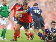 2 May 2009; Tony Buckley, Munster, in action against John Fogarty, Leinster. Heineken Cup Semi-Final, Munster v Leinster, Croke Park, Dublin. Picture credit: Pat Murphy / SPORTSFILE