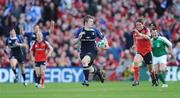 2 May 2009; Brian O'Driscoll, Leinster, breaks away from Ronan O'Gara, Munster, on his way to scoring his side's third try. Heineken Cup Semi-Final, Munster v Leinster, Croke Park, Dublin. Picture credit: Stephen McCarthy / SPORTSFILE