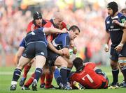 2 May 2009; Shane Jennings, Leinster, in action against, from left, Denis Leamy, John Hayes and David Wallace Munster. Heineken Cup Semi-Final, Munster v Leinster, Croke Park, Dublin. Picture credit: Pat Murphy / SPORTSFILE