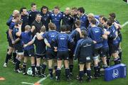 2 May 2009; Leinster coach Michael Cheika speaks to the team before the game. Heineken Cup Semi-Final, Munster v Leinster, Croke Park, Dublin. Picture credit: Ray McManus / SPORTSFILE