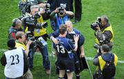 2 May 2009; Leinster players Felipe Contepomi and Brian O'Driscoll are the centre of attention after the game. Heineken Cup Semi-Final, Munster v Leinster, Croke Park, Dublin. Picture credit: Ray McManus / SPORTSFILE