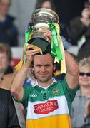 3 May 2009; Offaly captain Ger Oakley lifts the cup. Allianz GAA NHL Division 2 Final, Wexford v Offaly, Semple Stadium, Thurles, Co. Tipperary. Picture credit: David Maher / SPORTSFILE