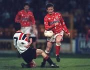 1993; Bobby Browne, Shelbourne, (right) in action against Jim Crawford, Bohemians, soccer. Picture credit; David Maher/SPORTSFILE
