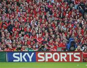 2 May 2009; A Sky Sports television camera at the game. Heineken Cup Semi-Final, Munster v Leinster, Croke Park, Dublin. Picture credit: Ray McManus / SPORTSFILE