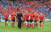 2 May 2009; The Munster squad leave the pitch after their warm-up before the game. Heineken Cup Semi-Final, Munster v Leinster, Croke Park, Dublin. Picture credit: Brendan Moran / SPORTSFILE