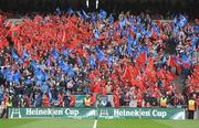 2 May 2009; A general view of Munster and Leinster fans. Heineken Cup Semi-Final, Munster v Leinster, Croke Park, Dublin. Picture credit: Brendan Moran / SPORTSFILE