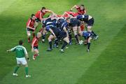 2 May 2009; Leinster scrum-half Chris Whitaker gets the ball away from a scrum. Heineken Cup Semi-Final, Munster v Leinster, Croke Park, Dublin. Picture credit: Ray McManus / SPORTSFILE
