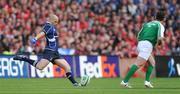 2 May 2009; Felipe Contepomi, Leinster, kicks a penalty. Heineken Cup Semi-Final, Munster v Leinster, Croke Park, Dublin. Picture credit: Stephen McCarthy / SPORTSFILE