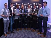 3 October 2015; The Limerick players on the team of the year, from left, Cian Lynch, Diarmaid Byrnes, Tom Morrissey, Pat Ryan, player of the year Richie English, Darragh O'Donovan, Dave McCarthy and Barry O'Connell in attendance at the Bord Gáis Energy U21 Team of the Year 2015. The Marker Hotel, Dublin. Picture credit: Matt Browne / SPORTSFILE