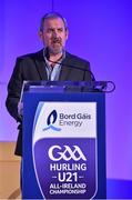 3 October 2015; Nickiy Doran, Marketing controller, Bord Gáis Energy, in attendance at the Bord Gáis Energy U21 Team of the Year 2015. The Marker Hotel, Dublin. Picture credit: Matt Browne / SPORTSFILE