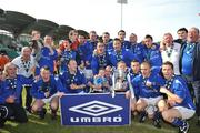 10 May 2009; Crumlin United FC players and officials celebrate after winning the FAI Umbro Intermediate Cup. FAI Umbro Intermediate Cup Final, Crumlin United FC v Bluebell United FC, Tallaght Stadium, Dublin. Picture credit: David Maher / SPORTSFILE