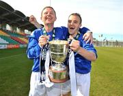 10 May 2009; Daniel Loughran, right, and Shane Carlisle, Crumlin United FC, celebrate at the end of the game. FAI Umbro Intermediate Cup Final, Crumlin United FC v Bluebell United FC, Tallaght Stadium, Dublin. Picture credit: David Maher / SPORTSFILE