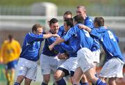 10 May 2009; Derek Griffin, centre, Crumlin United FC, celebrates after scoring his side's third and winning goal with team-mates. FAI Umbro Intermediate Cup Final, Crumlin United FC v Bluebell United FC, Tallaght Stadium, Dublin. Picture credit: David Maher / SPORTSFILE