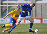 10 May 2009; Stephen Larkin, Crumlin United FC, in action against Stuart Smith, Bluebell United FC. FAI Umbro Intermediate Cup Final, Crumlin United FC v Bluebell United FC, Tallaght Stadium, Dublin. Picture credit: David Maher / SPORTSFILE