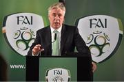 8 October 2015; FAI Chief Executive John Delaney delivers his address during the FAI Stakeholders Conference. Lansdowne RFC, Lansdowne Road, Dublin. Picture credit: Cody Glenn / SPORTSFILE