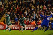 9 October 2015; Anto Murphy, Bohemians, scores the opening goal of the game past Conor O'Malley, St Patrick's Athletic. SSE Airtricity League Premier Division, Bohemians v St Patrick's Athletic. Dalymount Park, Dublin. Picture credit: Sam Barnes / SPORTSFILE