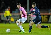 9 October 2015; Eric Molloy, Wexford Youths FC, in action against Evan Osam, Shelbourne. SSE Airtricity League Premier Division, Wexford Youths FC v Shelbourne. Ferrycarrig Park, Wexford. Picture credit: Matt Browne / SPORTSFILE