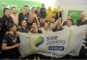 9 October 2015; Dundalk players celebrate their victory and championship title. SSE Airtricity League, Premier Division, Shamrock Rovers v Dundalk. Tallaght Stadium, Tallaght, Co. Dublin. Picture credit: Seb Daly / SPORTSFILE