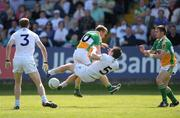 24 May 2009; Sean Ryan, Offaly, in action against Emmet Bolton, Kildare. Leinster GAA Football Senior Championship, First Round, Kildare v Offaly, O'Moore Park, Portlaoise, Co. Laois. Picture credit: Paul Mohan / SPORTSFILE