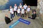 26 May 2009; At the launch of new GPA Player Welfare Initiatives in association with Mentors.ie are Micheal O'Callarain, President Mentors.ie, far right, and Liam McBarron, Fermanagh, far left, with players, from left to right, Brendan Boyle, Donegal, James Reilly, Cavan, Craig Rogers, Laois, Barry Cahill, Dublin, MJ Tierney, Laois, Kevin Flynn, Dublin, and Tony Browne, Waterford. The Croke Park Hotel, Jones's Road, Dublin. Picture credit: David Maher / SPORTSFILE