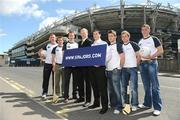 26 May 2009; At the launch of new GPA Player Welfare Initiatives in association with Mentors.ie are players, from left to right, James Reilly, Cavan, Tony Browne, Waterford, Barry Cahill, Dublin, Liam McBarron, Fermanagh, Kevin Flynn, Dublin, MJ Tierney, Laois, Craig Rogers, Laois and Brendan Boyle, Donegal. The Croke Park Hotel, Jones's Road, Dublin. Picture credit: David Maher / SPORTSFILE