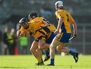 11 October 2015; Cathal O'Connell, Clonlara, in action against Brian Carey and Conor Deasy, right, Sixmilebridge. Clare County Senior Hurling Championship Final, Clonlara v Sixmilebridge. Cusack Park, Ennis, Co. Clare. Picture credit: Piaras Ó Mídheach / SPORTSFILE