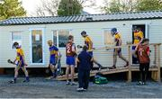 11 October 2015; Sixmilebridge players make their way to the pitch for the second half from the temporary dressing rooms in Cusack Park. Clare County Senior Hurling Championship Final, Clonlara v Sixmilebridge. Cusack Park, Ennis, Co. Clare. Picture credit: Piaras Ó Mídheach / SPORTSFILE