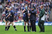 23 May 2009; Jonathan Sexton, Leinster, takes a drink. Heineken Cup Final, Leinster v Leicester Tigers, Murrayfield Stadium, Edinburgh, Scotland. Picture credit: Brendan Moran / SPORTSFILE