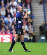 23 May 2009; Chris Whitaker, Leinster, takes a drink. Heineken Cup Final, Leinster v Leicester Tigers, Murrayfield Stadium, Edinburgh, Scotland. Picture credit: Brendan Moran / SPORTSFILE