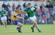 7 June 2009; Jason Stokes, Limerick, in action against Conor Whelan, Clare. Munster GAA Football Senior Championship Semi-Final, Clare v Limerick, Cusack Park, Ennis, Co. Clare. Picture credit: Matt Browne / SPORTSFILE