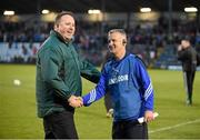 18 October 2015; Castlehaven manager Jim Nolan, right, and Nemo Rangers selector Colin Corkery exchange a handshake after the game. Cork County Senior Football Championship Final, Castlehaven v Nemo Rangers. Páirc Ui Rinn, Cork. Picture credit: Diarmuid Greene / SPORTSFILE