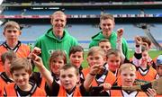 19 October 2015; Former Kilkenny hurler Henry Shefflin and Waterford hurler Austin Gleeson with children from Patrick's GAA, Killarney, Kerry, during the 'Centra's Live Well initiative' skills session. Clare hurler Patrick Donnellan. Over 650 children travelled to Croke Park today for a very special day out as part of Centra's Live Well initiative. Young hurlers from 16 different clubs had the once in a lifetime chance to experience the ultimate behind the scenes day out with many of their hurling idols including Henry Shefflin, Seamus Hickey, and Pat Donnellan. Through their partnership with the GAA Hurling All-Ireland Senior Championship Centra has been encouraging children all over Ireland to live healthier lives encouraging them to be active and educating them on nutrition. For more information see www.centra.ie. Croke Park, Dublin. Picture credit: Piaras Ó Mídheach / SPORTSFILE