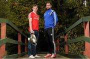 20 October 2015; Sean Pender, Edenderry, and Paul Sharry, St. Loman's, pictured in attendance at the Leinster GAA Club Championship launch 2015. Barretstown Castle, Ballymore Eustace, Co. Kildare. Picture credit: Seb Daly / SPORTSFILE