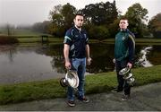 20 October 2015; Pictured in attendance at the Leinster GAA Club Championship launch 2015 were Paudie Kehoe, left, St. Mullins GAA Club, Co. Carlow and Paddy Dowdall, Clonkill GAA Club, Co. Westmeath. Barretstown Castle, Ballymore Eustace, Co. Kildare. Picture credit: David Maher / SPORTSFILE