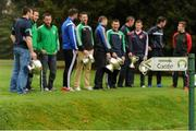 20 October 2015; A general view of players in attendance at the Leinster GAA Club Championship launch 2015. Barretstown Castle, Ballymore Eustace, Co. Kildare. Picture credit: Seb Daly / SPORTSFILE