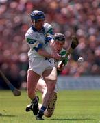 2nd Feb 1998: Brian Greene Waterford in action against James Moran Limerick, Waterford V Limerick, National Hurling League Semi Final, Thurles. Picture Credit: Ray McManus/SPORTSFILE