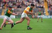 24 May1998. Offaly's Colm Cassidy gets away from Meath's Joe Dorran. Meath v Offaly, Leinster Hurling Championship, Croke Park. Picture Credit Ray McManus/SPORTSFILE