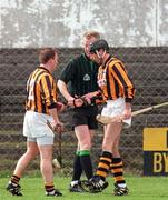 Kilkenny V Laois 12/4/1998 Nowlan Park Kilkenny DJ Carey comes on as a sub for Adrian Ronan Photograph Matt Browne SPORTSFILE The Referee is Pat Aherne, Carlow.