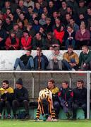 Kilkenny V Laois 12/4/1998 Nowlan Park Kilkenny DJ Carey limbers up before comeing on as a sub for Adrian Ronan Photograph Matt Browne SPORTSFILE