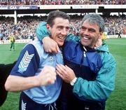 National League Football Final Replay 1993 Dublin v Donegal   Jack Sheedy and Fran Ryder celebrate after winning  Photograph Ray McManus SPORTSFILE