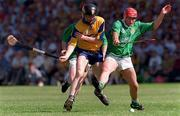 16 June 1996, Frank Lohan Clare in action against T.J Ryan Limerick, Semi Final Munster Championship, Picture Credit: David Maher/SPORTSFILE