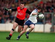 National Football League Quarter-Final, Down v Monaghan, Croke Park. 5/4/98. Action features Monaghan's Mark Daly gets past the challenge of Down's Michael Magill. Photograph © Ray McManus SPORTSFILE.